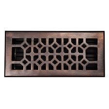 "4"" x 10"" Copper Floor Register"