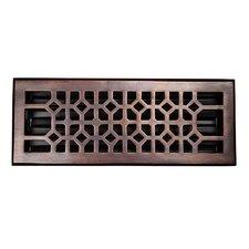 """4"""" x 12"""" Copper Floor Register"""