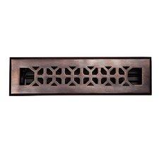 """2.25"""" x 12"""" Copper Floor Register"""