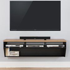 "60"" Angled Sides Wall Mounted TV Component Shelf"