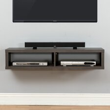 "48"" Shallow Wall Mounted TV Component Shelf"