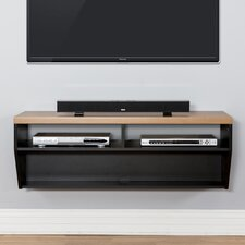 "48"" Angled Sides Wall Mounted TV Component Shelf"