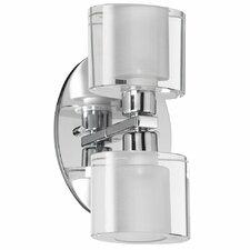 Oval Glass 2 Light Bath Vanity Light