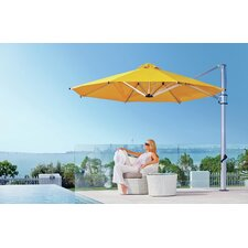 13 ft. Octagonal Commercial Grade Eclipse Cantilever Umbrella Set with Deck Plate