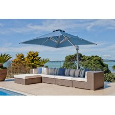 10 ft. Square Commercial Grade Eclipse Cantilever Umbrella	Patio Umbrella Set with Deck Plate