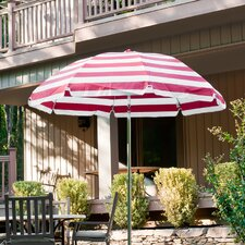 7.5 ft. Diameter Steel Commercial Grade Striped Acrylic Patio Umbrella