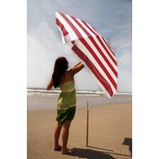 7.5 ft. Diameter Steel Commercial Grade Striped Acrylic Beach Umbrella