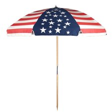 7.5 ft. Diameter Steel Commercial Grade American Flag Beach Umbrella