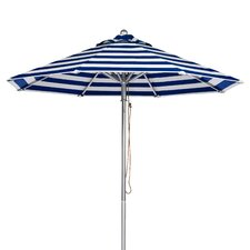 7.5 ft. Octagonal Commercial Grade Striped Aluminum Market Umbrella