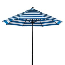 11 ft. Octagonal Commercial Grade Striped Fiberglass Market Umbrella