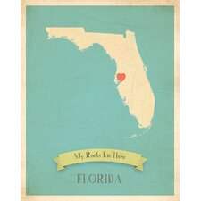 My Roots Florida Personalized Map Paper Print