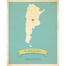My Roots Argentina Personalized Map Paper Print