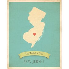 My Roots New Jersey Personalized Map Paper Print