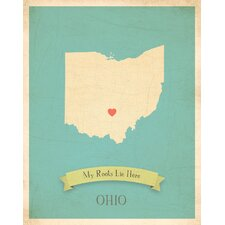 My Roots Ohio Personalized Map Paper Print
