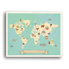Global Compassion World Map Gallery Wrapped on Canvas Art