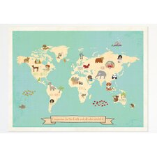 Global Compassion World Map Graphic Art