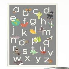 Nature Themed Alphabet Canvas Art