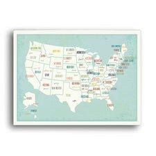 Children's USA Map Paper Print