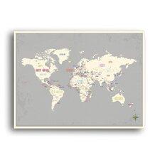 World Map Paper Print