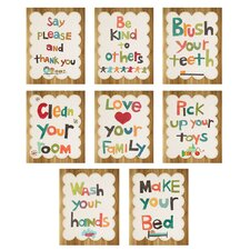 8 Piece Good Manners Wall Card Set