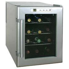 12 Bottle Wine Single Zone Freestanding Wine Refrigerator