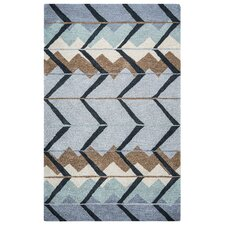 Tumble Weed Loft Hand-Tufted Blue/Light Blue Area Rug