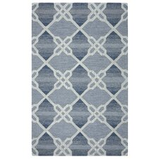 Caterine Hand-Tufted Blue Area Rug