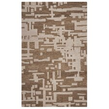 Leone Hand-Tufted Brown/Off White Area Rug