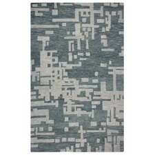 Leone Hand-Tufted Gray/Off White Area Rug