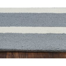 Azzura Hill Hand-Tufted Gray Indoor/Outdoor Area Rug
