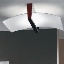 Wood 1 Light Semi-Flush Ceiling Light