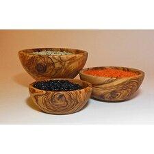 Olive Wood Candy / Nut Bowl 3 Piece Set