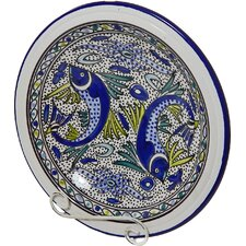 Aqua Fish Design Small Serving Bowl