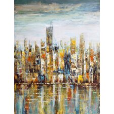 Downtown Painting Print on Wrapped Canvas