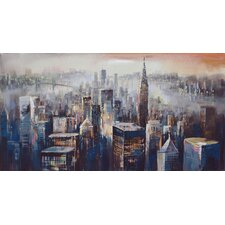 Wall Décor City Dusk Painting Print on Wrapped Canvas