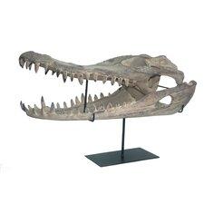 Alligator on Stand Sculpture