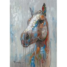 Happy Horse Painting Print on Canvas