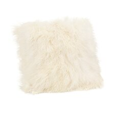 Lamb Fur Throw Pillow