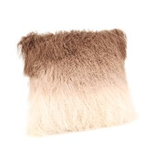Lamb Fur Spectrum Throw Pillow