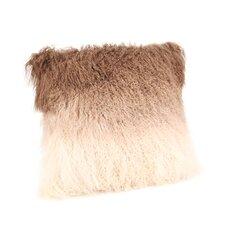Lamb Fur Spectrum Throw Pillow