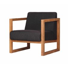 Solid Teak and Fabric Arm Chair