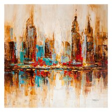 City Shadows Painting Print on Canvas
