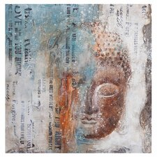 Subtle Buddha Graphic Art on Wrapped Canvas