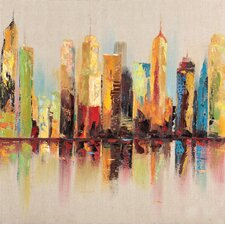 Raw City I Painting Print on Wrapped Canvas