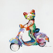 Urban Frog Painting Print on Wrapped Canvas