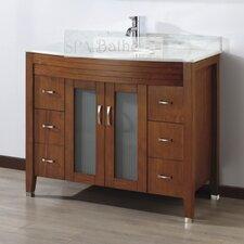"Alfa 42"" Single Bathroom Vanity Set with Mirror"