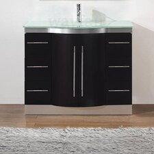 """Dinara 42"""" Single Bathroom Vanity Set with Mirror"""