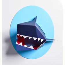 Oceanography Xander the Shark Paper Bust Wall Decor