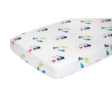 Oceanography Organic Cotton Percale Sheet