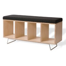 Birch Wooden Storage Bench